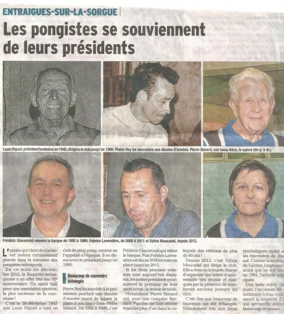 Article vm presidents du club
