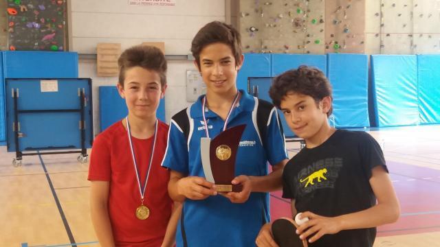 Finales championnat jeunes vainqueur minimes lilouan et andre 2 1
